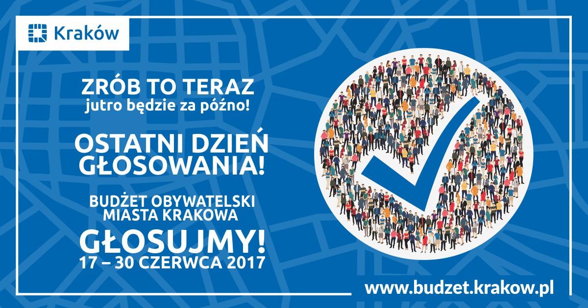 Ostatni dni na głosowanie w Budżecie Obywatelskim