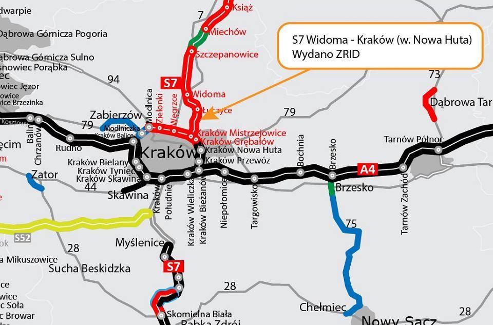 S7 od węzła Widoma do granic Krakowa – Umowa na budowę odcinka podpisana 15.07.2021